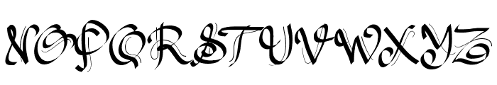 PW Gothic Style Font UPPERCASE