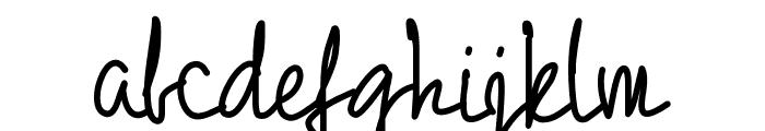 PW01Script Font LOWERCASE
