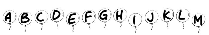PWBalloon Font UPPERCASE