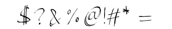 PWBrushScript Font OTHER CHARS