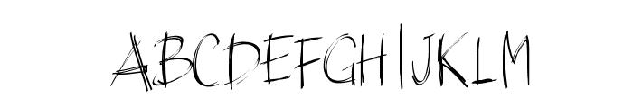 PWBrushScript Font UPPERCASE