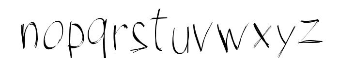 PWBrushScript Font LOWERCASE