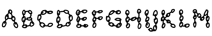 PWChainsfonts Font LOWERCASE