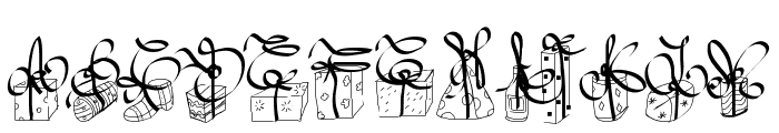 PWChristmasGifts Font UPPERCASE