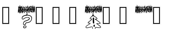 PWChristmasTinsel Font OTHER CHARS