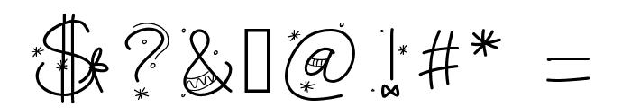 PWChristmasfont Font OTHER CHARS