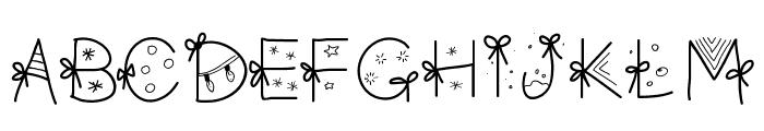 PWChristmasfont Font LOWERCASE
