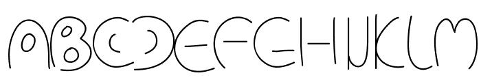 PWCirclefonts Font UPPERCASE