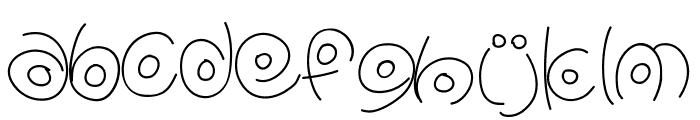 PWCirclefonts Font LOWERCASE