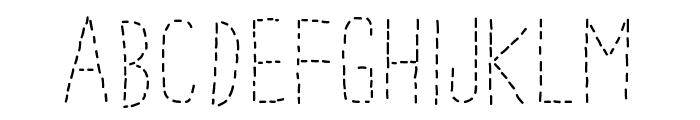 PWDottedFont Font UPPERCASE