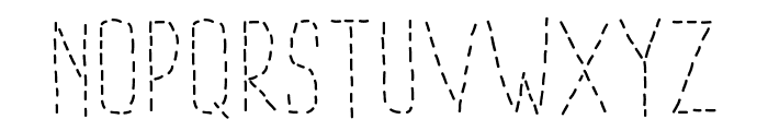 PWDottedFont Font LOWERCASE