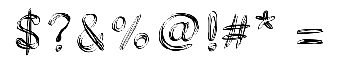 PWFilament Font OTHER CHARS