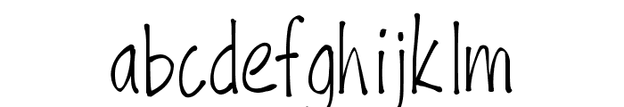 PWFine Font LOWERCASE