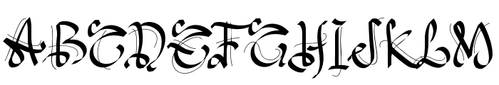 PWGothicStyle Font UPPERCASE