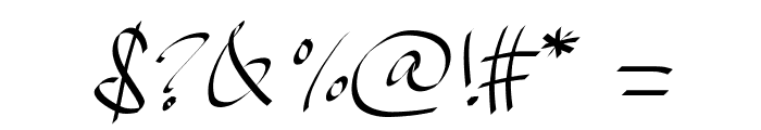 PWHandscript Font OTHER CHARS