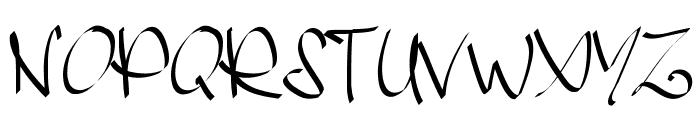 PWHandscript Font UPPERCASE