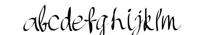 PWHandscript Font LOWERCASE