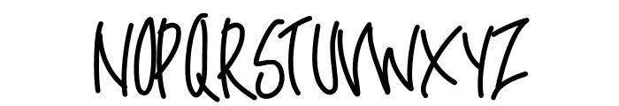 PWOblique Font UPPERCASE