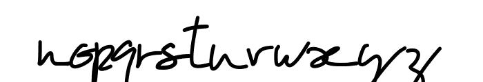 PWOblique Font LOWERCASE