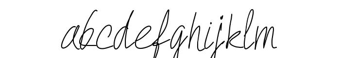 PWQuickWrite-Medium Font LOWERCASE