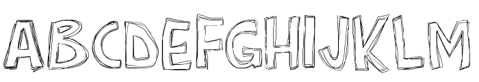 PWRoughs Font UPPERCASE