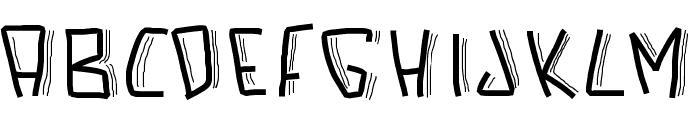 PWScaredFont Font LOWERCASE