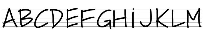 PWSchoolScript Font UPPERCASE