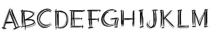 PWScratched2 Font UPPERCASE