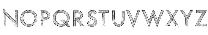 PWScratchedfont Font UPPERCASE