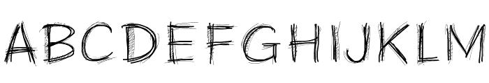PWScratchy Font UPPERCASE