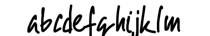 PWScript09 Font LOWERCASE