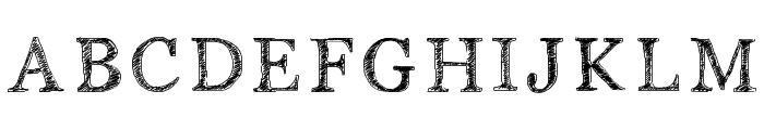 PWSerifScratch Font UPPERCASE