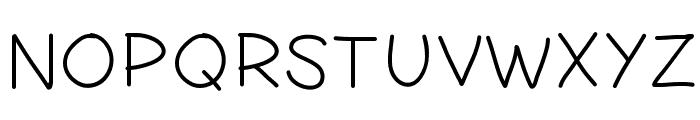 PWSimpleHandwriting Font UPPERCASE
