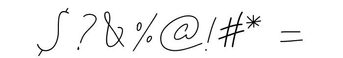 PWSimpleScript Font OTHER CHARS