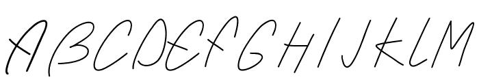 PWSimpleScript Font UPPERCASE