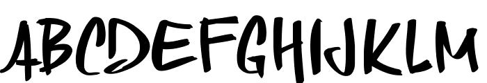 PWSkriptt Font UPPERCASE