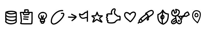 PWSmallIconsFree Font UPPERCASE