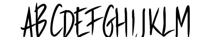 PWStraight Font UPPERCASE
