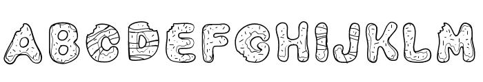 PWYummyDonuts Font LOWERCASE