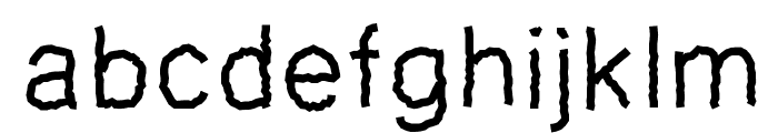 PWZigzagfont Font LOWERCASE