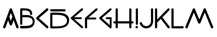 PW_Sans Regular Font UPPERCASE