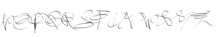 PWsignaturefont Font UPPERCASE