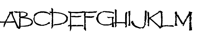 Pyrite Scrypt Font UPPERCASE