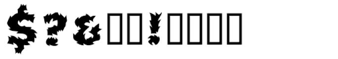 Pyrotechnics Regular Font OTHER CHARS