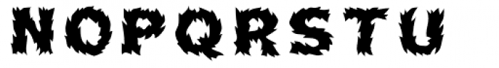 Pyrotechnics Regular Font UPPERCASE