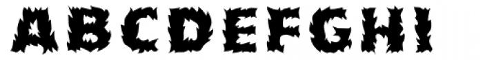 Pyrotechnics Regular Font LOWERCASE