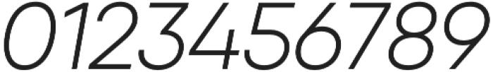 Qanelas Light Italic otf (300) Font OTHER CHARS