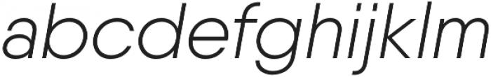Qanelas Light Italic otf (300) Font LOWERCASE