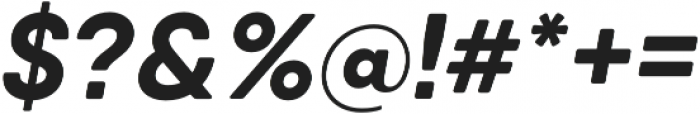 Qanelas Soft Bold Italic otf (700) Font OTHER CHARS
