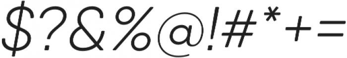 Qanelas Soft Light Italic otf (300) Font OTHER CHARS